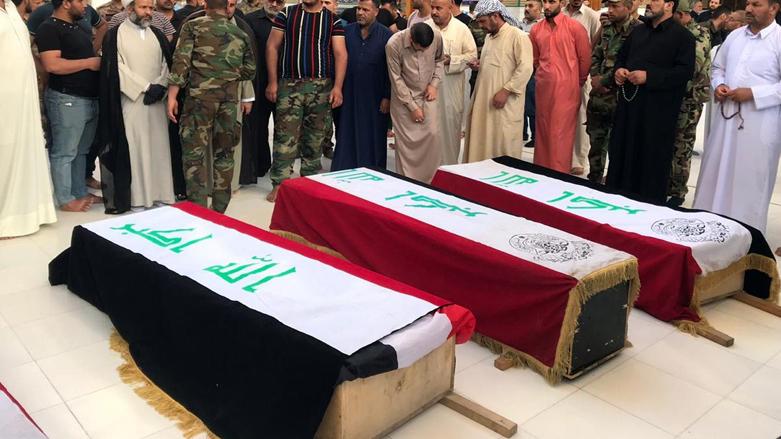 Funeral celebrado este mes en Irak tras un atentado de Daesh.