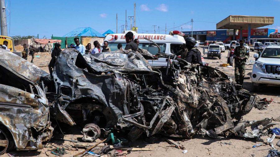 Escenario del atentado ocurrido en Mogadiscio que se saldó con la muerte de 92 personas. Fuente: RTVE
