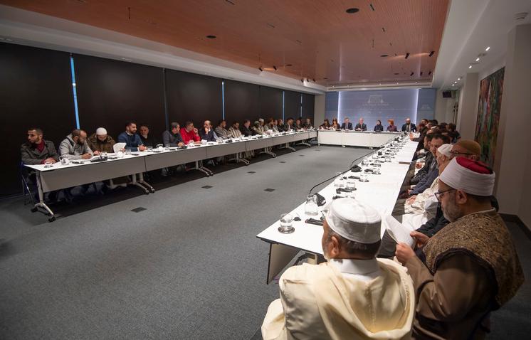 El 17 de enero de 2020 se firmaba el manifiesto con la presencia de 39 imanes. Fuente: Gobierno Vasco.