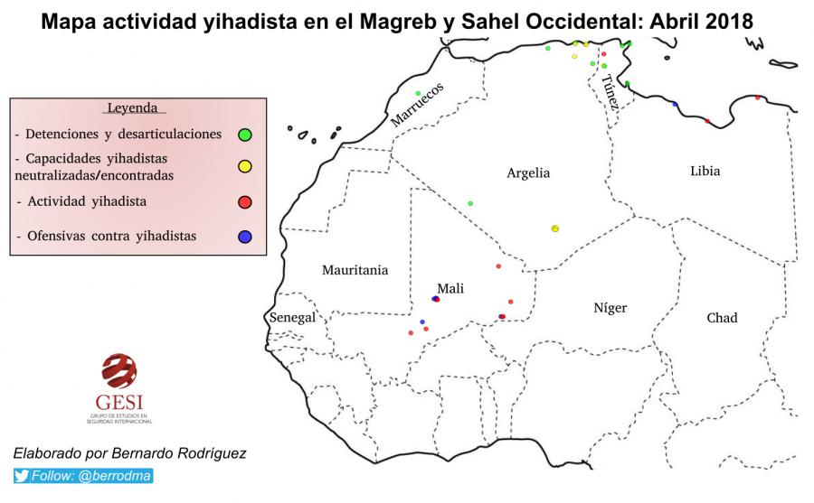 Actividad Yihadista en el Magreb y Sahel Occidental: Abril 2018
