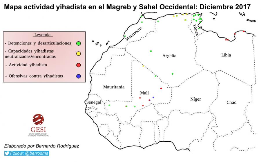 Actividad Yihadista en el Magreb y Sahel Occidental: Diciembre 2017