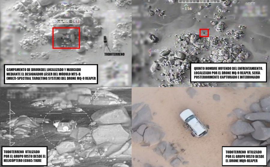 Figura 3. Explicación de algunas de las imágenes de la operación liberadas por el EMAD francés.