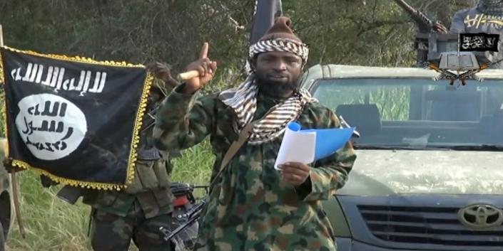 Figura 4. Captura de vídeo de Abubakar Shekau en una de sus intervenciones como líder de Boko Haram.