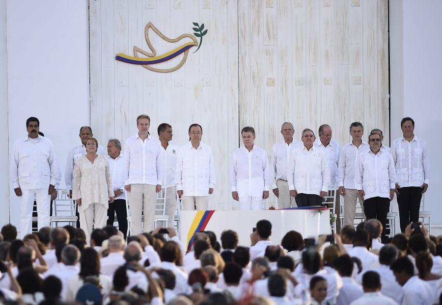 Ceremonia de la Firma de la Paz entre el Gobierno de Colombia y las FARC E.P. (Gobierno de Chile)