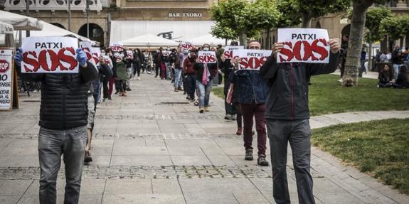 Figura 5: Concentración en Pamplona a favor del preso de ETA Patxi Ruiz el 23 de mayo de 2020.
