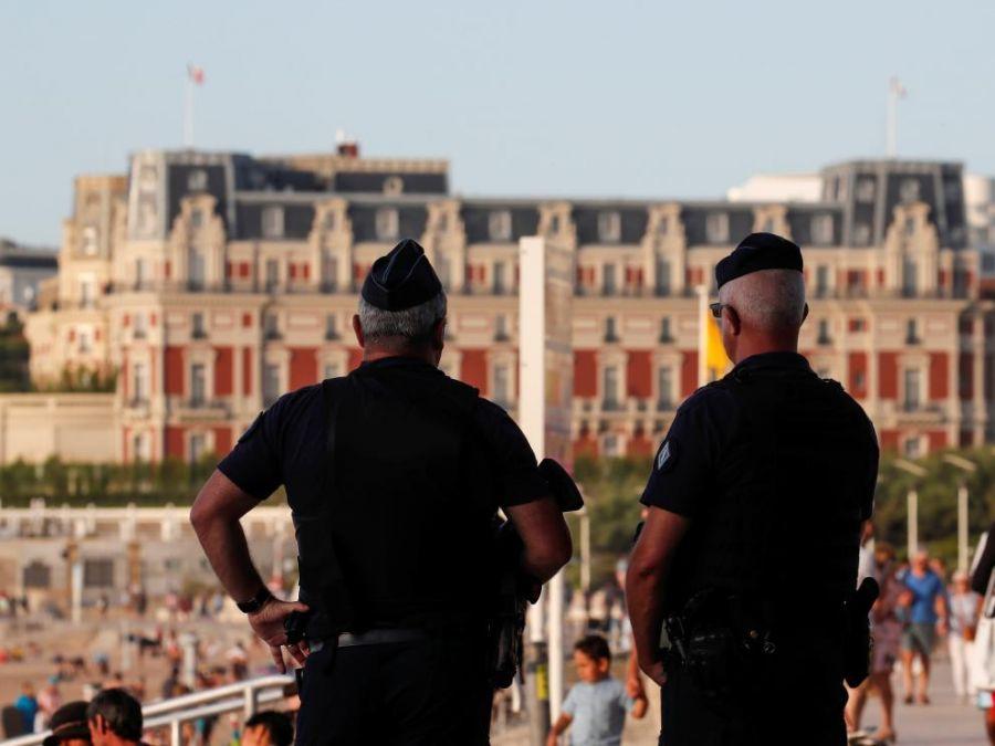 Imagen 2: Perímetro de protección establecido durante la cumbre del G7 en Biarritz. Fuente: Crhistian Hartmann.